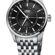 Oris Artix Pointer Moon, Date, Black Dial, Steel Bracelet