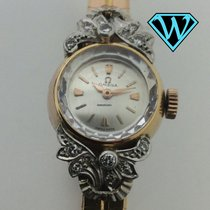 Omega Saphette gold with diamonds