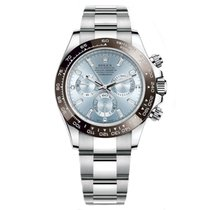Rolex DAYTONA Platinum Watch Ice Blue Diamond Dial UNWORN