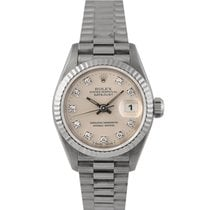 Rolex Datejust Ladies  White Gold Diamond Dial, Ref: 69179