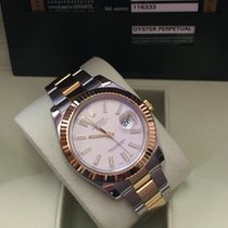 Rolex Datejust 2 Ivory Dial 41 mm. 116333 08-2013 B&P