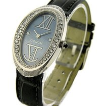 Corum 137.410.69 Oval in White Gold with Diamond Bezel - on...