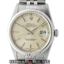 Rolex Datejust 36mm White Gold Fluted Bezel Silver Dial...
