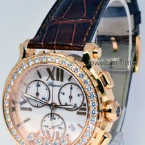 Chopard Happy Sport Chronograph 18k Rose Gold & Diamonds...