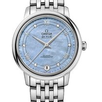 Omega DeVille Prestige Blue MOP Dial Ladies Watch 424.10.33.20...