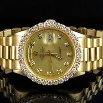 Rolex 18K Mens Yellow Gold Rolex President Day-Date 36MM 18038...