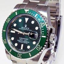 Rolex Green Submariner 116610 Steel Ceramic Mens Watch &...