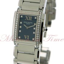 Patek Philippe Twenty-4 Medium, Blue Diamond Dial, Diamond...