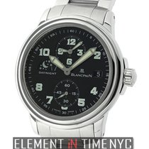 Blancpain Leman  Double Time Zone Stainless Steel Black Dial 38mm