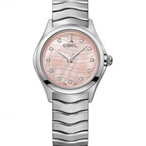 Ebel Wave Lady Steel Bracelet, Pink Mother of Pearl, Diamond