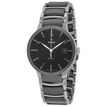 Rado Men's Centrix Black Dial Two-Tone Ceramic Watch