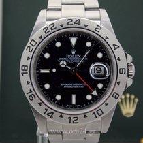 Rolex Explorer II 16570 No Holes 40mm Black Dial Box&Papers
