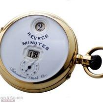 IWC Vintage Pocket Watch DIGITAL Numerals System PALLWEBER 14k...