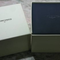 Longines vintage medium leather blu watch box nice condition