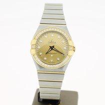 Omega Constellation Quartz Steel/Gold 27mm Diamond dial...