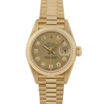 Rolex Datejust Ladies 18k Diamond Dial, Ref: 69178 With Papers