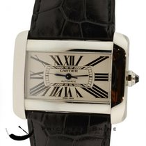 Cartier Tank Divan Large Steel Automatic Watch W/ Box Papers...