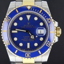 Rolex Submariner Gold/Steel Blue Dial, Full Set 40MM 2013 MINT
