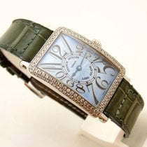 Franck Muller Long Island in oro bianco 18 kt brillanti 1.29...