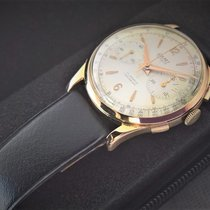 Camy vintage BIG 18ct solid  golden chronograph , serviced