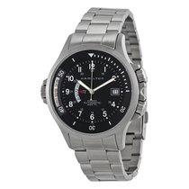 Hamilton Men's H77615133 Khaki Navy GMT Steel Watch