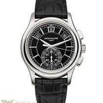 Patek Philippe Annual Calendar Chronograph Platinum Black Dial...