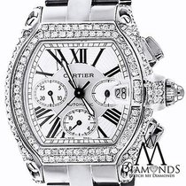 Cartier Diamond Cartier Roadster Xl W62020x6 Chronograph White...