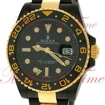 Rolex GMT-Master II, Black Dial - Yellow Gold & Black PVD...