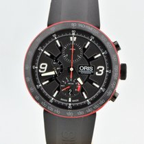Oris Tt1 Chronograph Black Stainless Steel Automatic Watch...