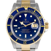 Rolex Submariner Steel & Gold with Blue Dial, Ref:16613