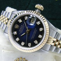 Rolex Lady-Datejust 26mm Factory Vignette Diamond Dial Box Papers