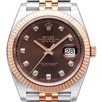 Rolex Datejust 41 Edelstahl Everose-Gold 126331 Choco Diamant...