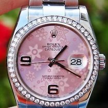 롤렉스 (Rolex) Ladies 36mm Datejust Pink Floral Factory Diamonds