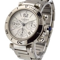 Cartier W31089M7 Pasha Seatimer Chronograph - Steel on...