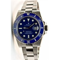 Rolex Submariner Date 116619 White Gold Blue Face and Blue...