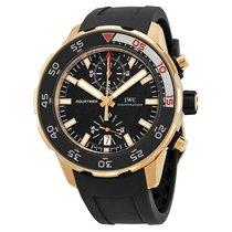 IWC Men's IW376905  Aquatimer Black Dial 18kt Rose Gold Black