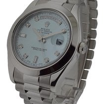 Rolex Used 218206 Day Date II President in Platinum - Polished...