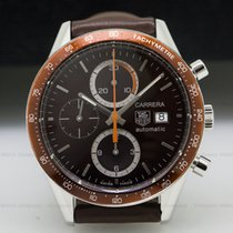 TAG Heuer CV2013-1 Carrera Chronograph SS / SS Brown Subrust...