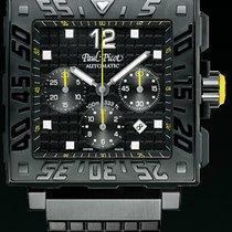 Paul Picot C-TYPE carrèe total black chronograph  0830SGN50103301