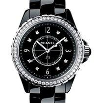 Chanel H3108 Full Size J12 Black 33mm Quartz in Black Ceramic...