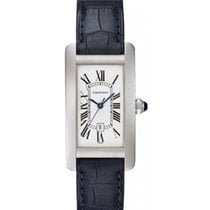 Cartier Tank Americaine Midsize Watch Automatic 18K White Gold...