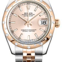 Rolex Datejust 31mm Stainless Steel and Rose Gold 178341 Pink...
