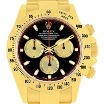 Rolex Cosmograph Daytona 18k Yellow Gold Black Dial Mens Watch...
