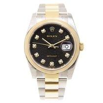 勞力士 (Rolex) Datejust Gold And Steel Black Automatic 116203JBK_O