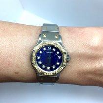 Cartier Santos Octagon 18k Gold & Steel Ladies Watch...