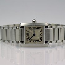 Cartier Lady Tank Francaise Stahl top Zustand - langes Band