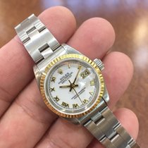 Rolex Ladies Datejust 18K Yellow Bezel and Stainless Steel Oyster