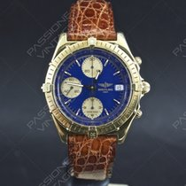 Breitling Chronomat 18 kt Gold full set blue dial 81950