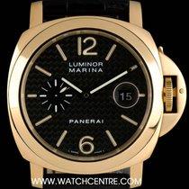 Panerai 18k Y/G Carbon Fibre Dial Luminor Marina PAM00140