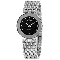 Rado Flourence Black Dial Stainless Steel Ladies Watch
